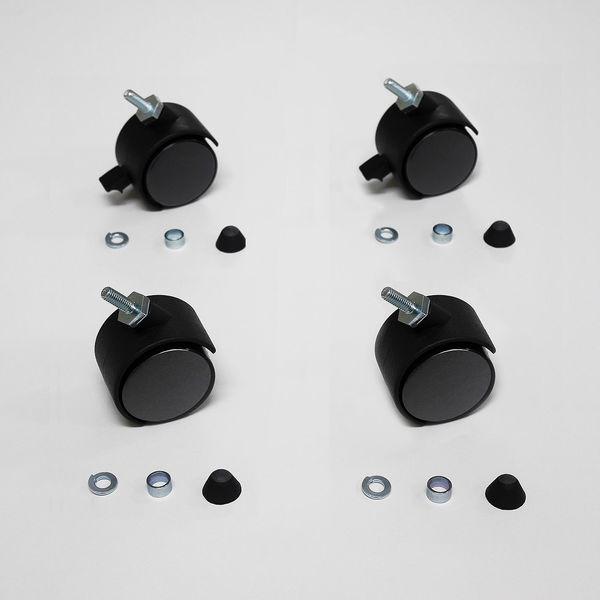 ニチベイ ブラインドスクリーン専用オプション キャスターセット(4個セット) (直送品)