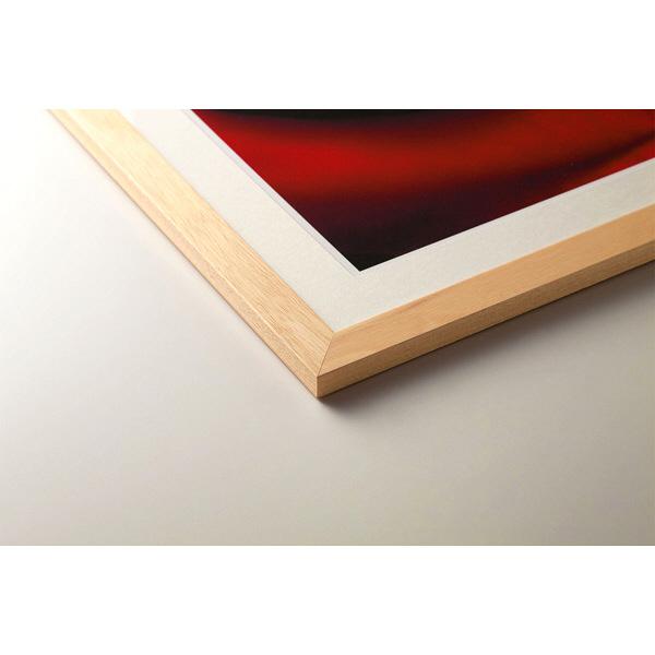 アートプリントジャパン 「夕焼けのモンサンミッシェル」 フレーム/XL/木目 1枚