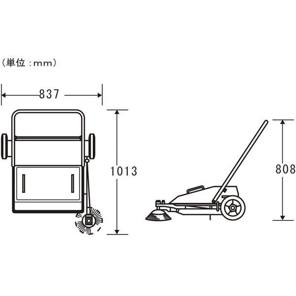 山崎産業 コンドル ロードスイーパーCSR-700 本体 4903180326259 (直送品)