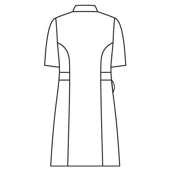 スクエアカラーワンピース 半袖 73-1918 コーラル LL ナースワンピース (直送品)