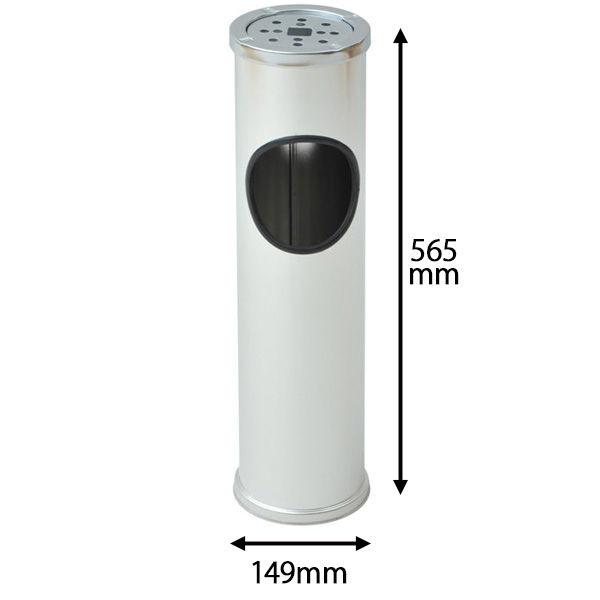 インテリア灰皿シルバー Q4T78 (直送品)