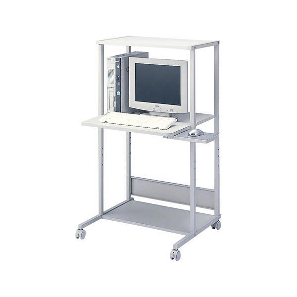 サンワサプライ パソコンラック 幅650×奥行610×高さ1150mm 上棚奥行400mm RAC-EC34 1台 (直送品)
