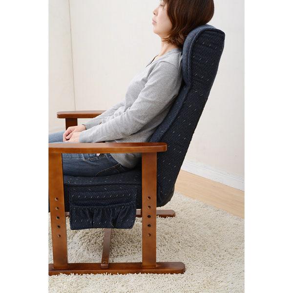 YAMAZEN(山善) レバー式ポケットコイル高座椅子 ブルー 1脚 PTZ-55(BL) (直送品)
