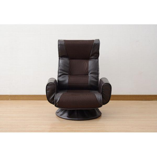 YAMAZEN(山善) 肘付回転座椅子ハイ ダークブラウン 1脚 WHS-70H(DBR) (直送品)