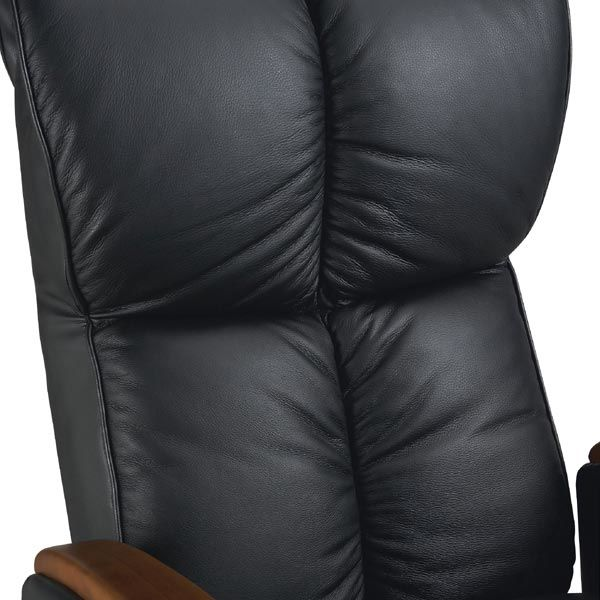肘付本革座椅子 風雅 ブラック
