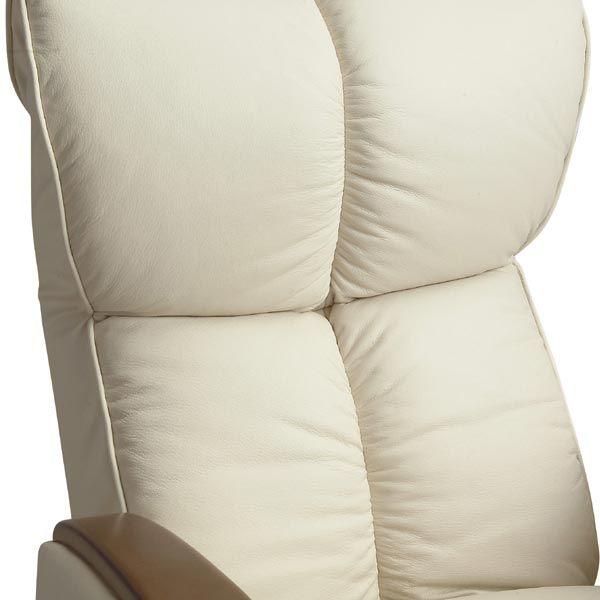 肘付本革座椅子 風雅 アイボリー