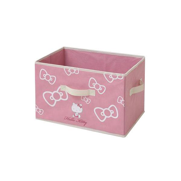 YAMAZEN(山善) キティどこでも収納ボックス ピンク/ホワイト 1セット(3個入) (直送品)