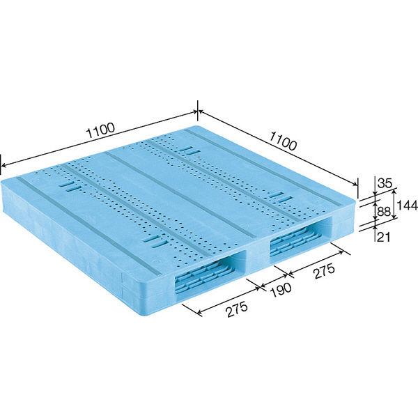 サンコー パレット D2-1111F-3 81213901BL502 (直送品)