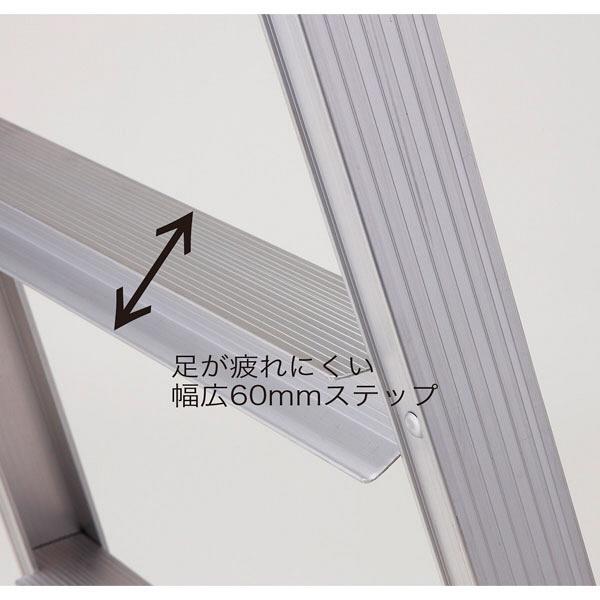 Hasegawa(長谷川工業) アルミ合金 はしご兼用脚立幅広ステップ 4段 (4尺 110cm) RS2.0-12 1台 (直送品)