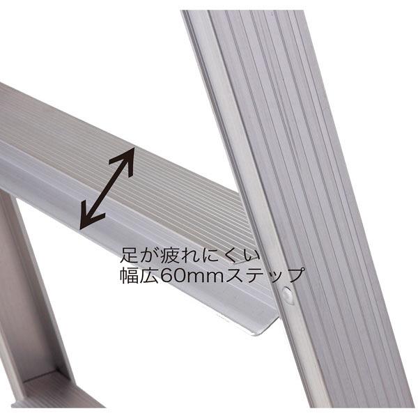 Hasegawa(長谷川工業) アルミ合金 はしご兼用脚立幅広ステップ 5段 (5尺 140cm) RS2.0-15 1台 (直送品)