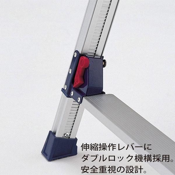 PiCa Corp(ピカコーポレイション) アルミ合金 はしご兼用脚立スタンダード 155cm SCL-150A 1台 (直送品)
