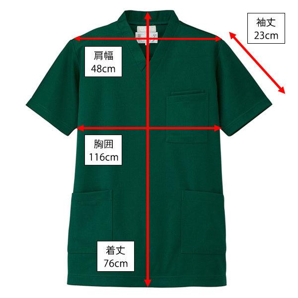 AITOZ(アイトス) ニットスクラブ(男女兼用) 半袖 グリーン LL 861401-015-LL (直送品)