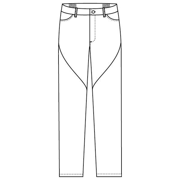 フォーク 医療白衣 ワコールHIコレクション スリムストレートパンツ HI301-1 ホワイト LL スクラブパンツ (直送品)