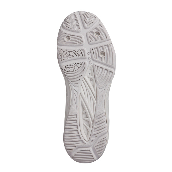 アシックス ケアウォーカー700 ナースシューズ FMC700-0293 アイボリー×シルバー 24.5cm (直送品)