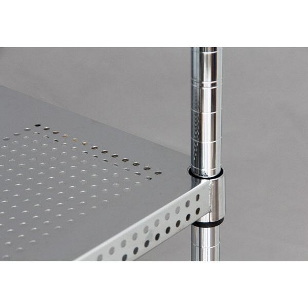 アイリスオーヤマ ポール直径25mm パンチングラックセット シルバー 幅1200×奥行460×高さ1510mm MR-P1215J(直送品)
