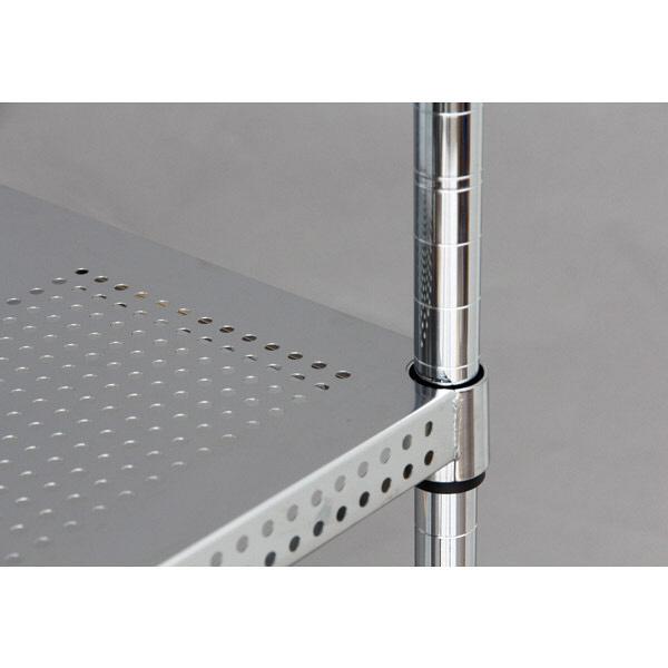 アイリスオーヤマ ポール直径25mm パンチングラックセット シルバー 幅1200×奥行460×高さ1785mm MR-P1218J(直送品)