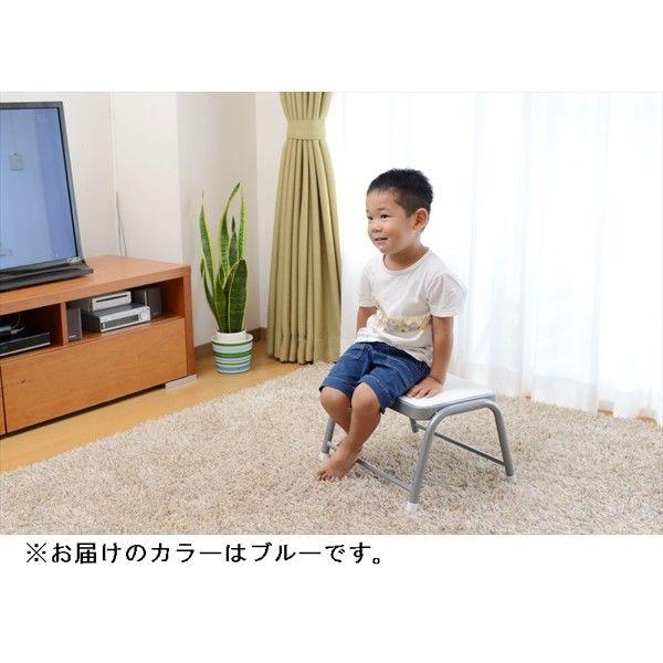 YAMAZEN(山善) ステップチェア 幅430×奥行355×高さ250mm ブルー (直送品)