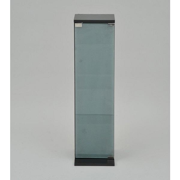 YAMAZEN(山善) CD・DVDラック4段/5段 幅240×奥行250×高さ900mm ダークブラウン (直送品)