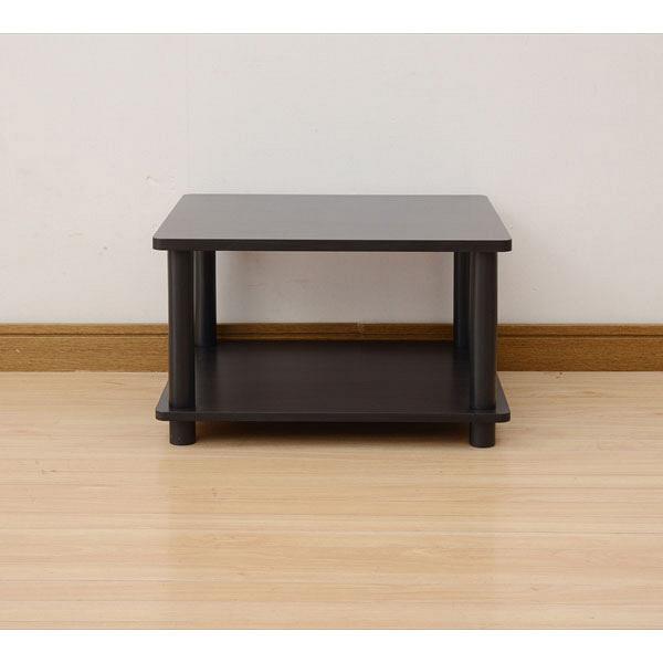 YAMAZEN(山善) 小型用テレビ台 幅450×奥行395×高さ280mm ダークブラウン/ブラック (直送品)