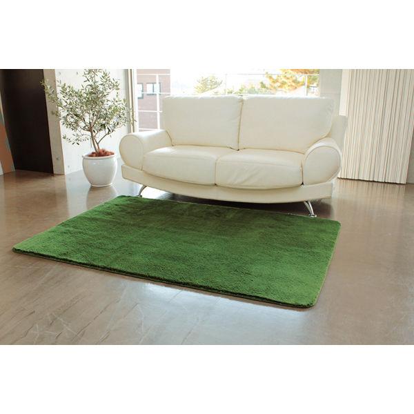 ラグ 丸型 グリーン 150×150cm