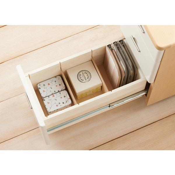 コイズミファニテック Liten(リトゥン) スリムワゴン 3段 ホワイト 幅260×奥行455×高さ572mm 1台 (直送品)