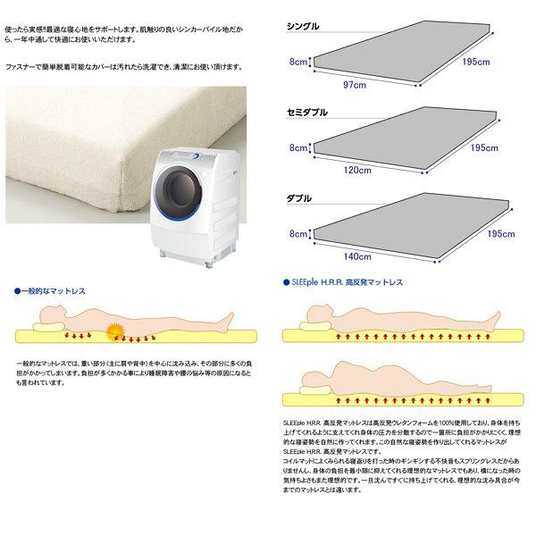 高反発マットレス80mm厚 ダブル