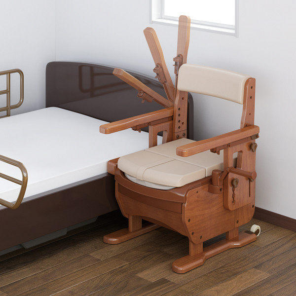 アロン化成 安寿 家具調トイレセレクトR はねあげワイド 暖房便座 533-873 (直送品)