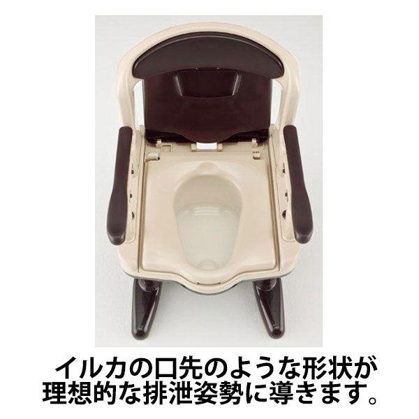 アロン化成 安寿 ポータブルトイレ ジャスピタ 標準・快適脱臭 ベージュ 1台 533-923 (直送品)