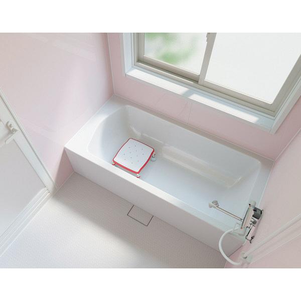 アロン化成 安寿 ステンレス製 浴槽台R ジャスト 10 レッド 536-490 (直送品)