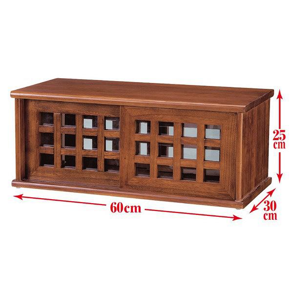 木製両面引き戸カウンター上収納庫