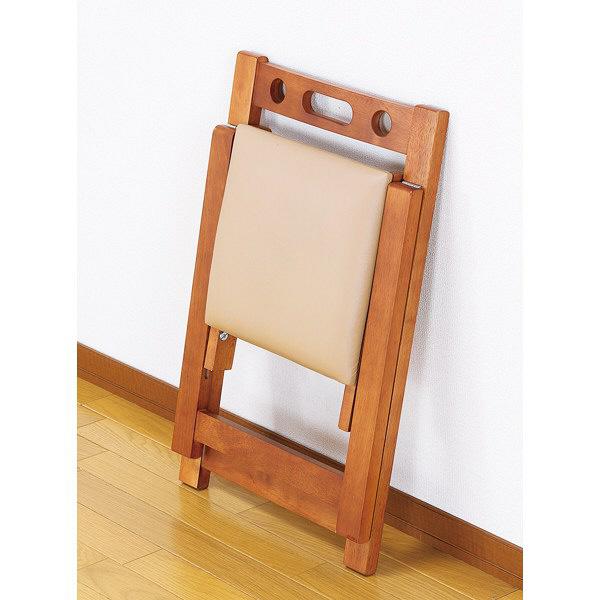 ファミリー・ライフ 木製折りたたみチェア ブラウン (直送品)