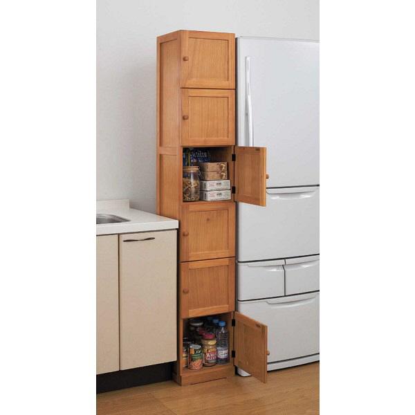 木製すきま収納庫6ドア 幅300mm