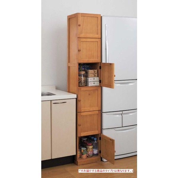 木製すきま収納6ドア 幅450mm
