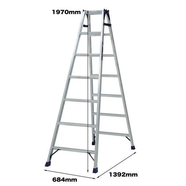 PiCa Corp(ピカコーポレイション) 軽量 はしご兼用脚立 7段 (7尺 197cm) MCX-210 1台 (直送品)