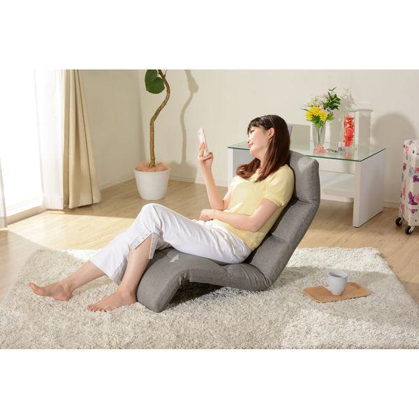 セルタン 座椅子 和楽の雲 下タイプ 幅540×奥行930~1380×高さ120~700mm タスクブルー (直送品)