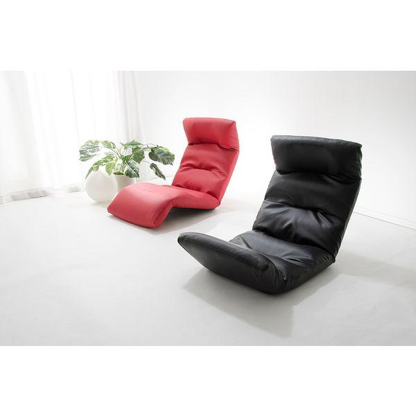 セルタン 座椅子 和楽の雲 下タイプ 幅540×奥行930~1380×高さ120~700mm PVCブラック (直送品)