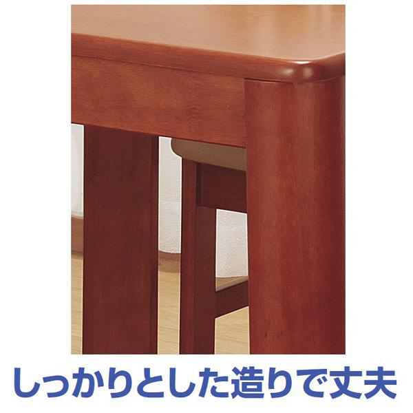 ファミリー・ライフ 木製ダイニングテーブル ブラウン 幅750×奥行750×高さ700mm 1台 (直送品)