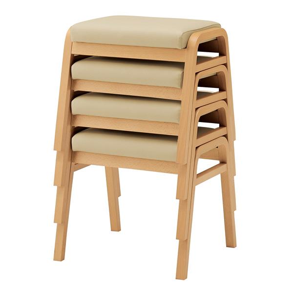 岡村製作所 スタッキングスツール 椅子(耐アルコール・耐次亜塩素酸仕様) LY93ZZ PB56 1脚  (直送品)