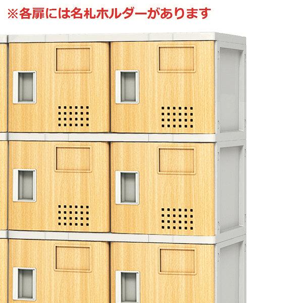アイリスチトセ 多目的樹脂ロッカー 2列4段 扉木目 ロッカー TJL-S-24MT-M 1台  (直送品)