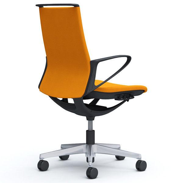 岡村製作所 モード 布張り 樹脂肘付 ブラックフレーム オレンジ(プレーンクロス) CA25BR-FSG8 1脚 (直送品)