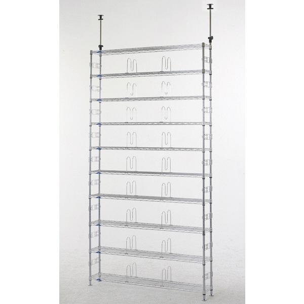 ルミナス ポール径19mm セット品 突っ張り棚 10段 幅1225×奥行230×高さ2200~2800mm MD120-10T