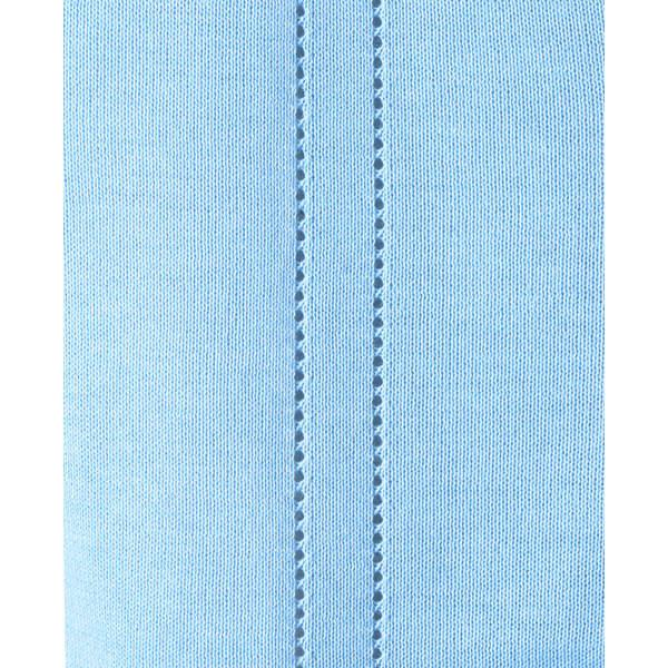 D-PHASE(ディーフェイズ) 綿混透かし編カーディガン 女性用 長袖 サックス L D1009 (直送品)