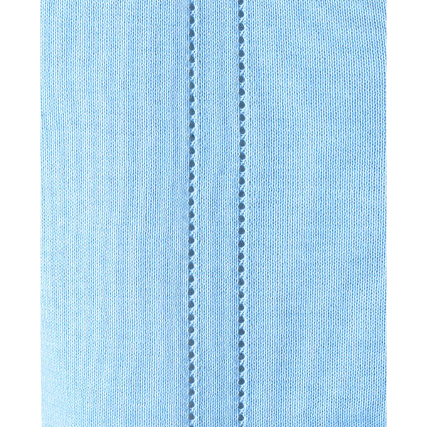 D-PHASE(ディーフェイズ) 綿混透かし編カーディガン 女性用 長袖 サックス 3L D1009 (直送品)