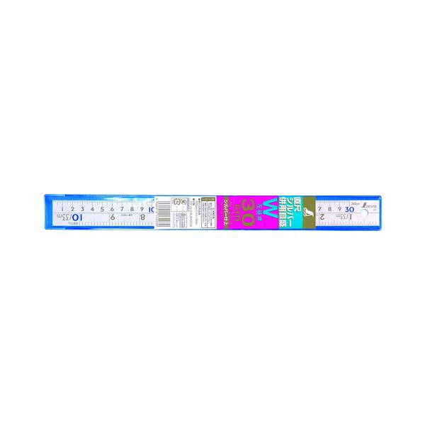 シンワ測定 直尺 シルバー 併用目盛 W左基点 cm表示 30cm 13203 1箱(10本入) (直送品)
