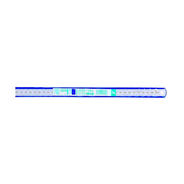 シンワ測定 細巾直尺 シルバー 60cm 13269 1箱(10本入) (直送品)