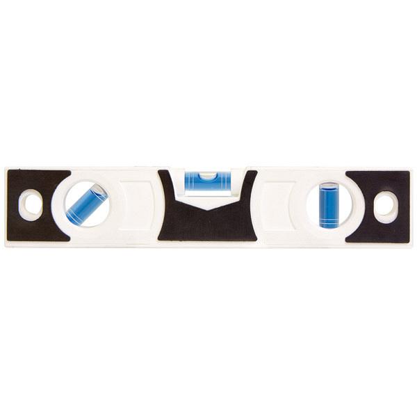 シンワ測定 スリムレベル 200mm 白 背面マグネット付 76332 1セット(6本) (直送品)
