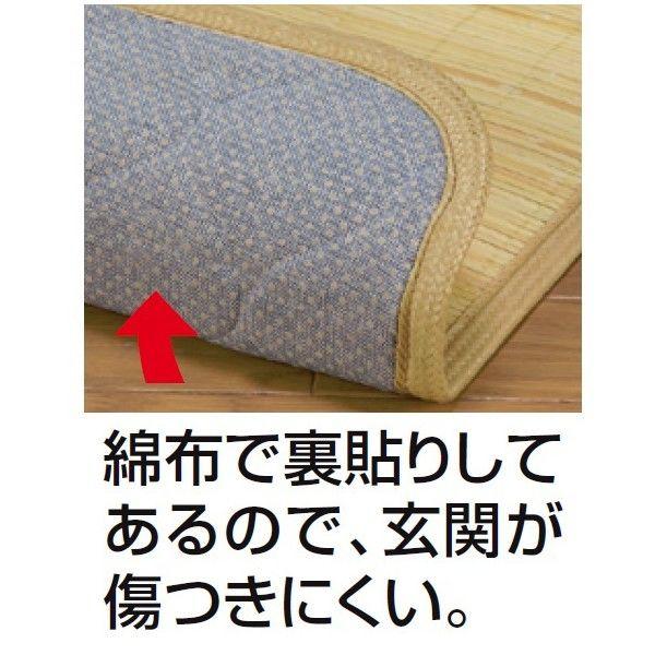 ファミリー・ライフ 天然籐表皮玄関マット 700×1200mm (直送品)
