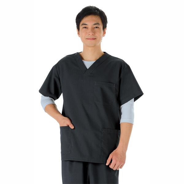 KAZEN スクラブ インナーTシャツ(男女兼用) 半袖 シルバーグレー 4L 233-11 (直送品)