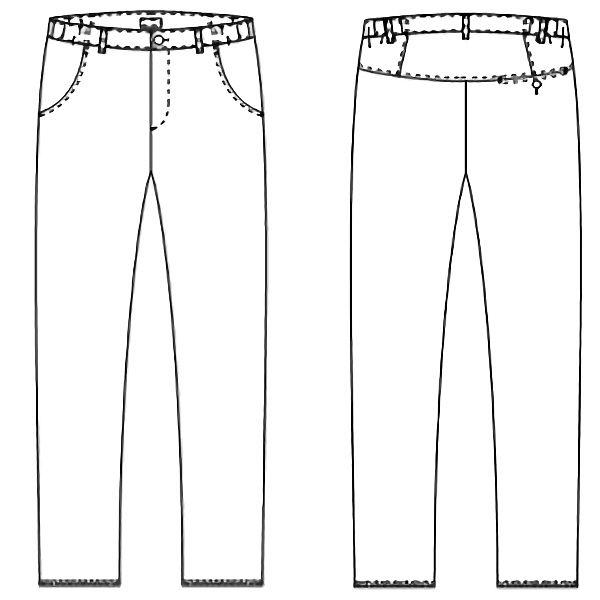 【メーカーカタログ】 KAZEN メンズパンツ チャコールグレー M CIS850-26-M 1枚  (直送品)