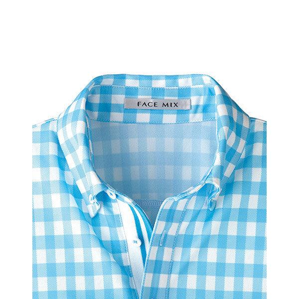 【メーカーカタログ】ボンマックス チェックプリントポロシャツ(長袖) オレンジ L FB4536U 1枚 (直送品)